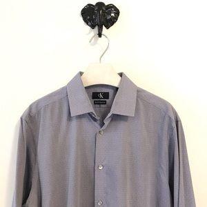 Calvin Klein Dress Shirt Size Large 16.5 Slim Fit